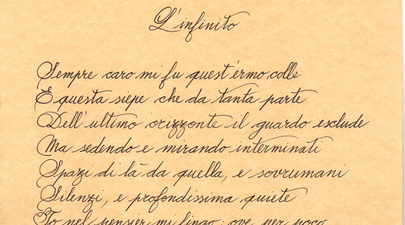 L'infinito di Giacomo Leopardi